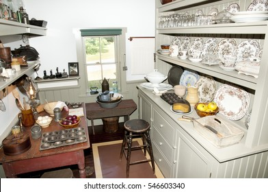 CAVENDISH, CANADA - August 9, 2016: Inside quarters in Anne of Green Gables House on Prince Edward Island