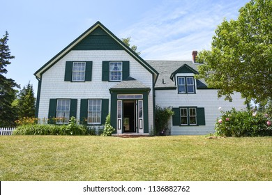 Cavendish, Canada -July 16th 2018: Anne of Green gables model house in Prince Edward Island.