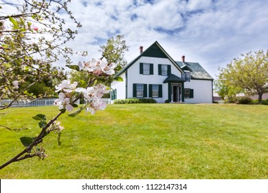 CAVENDISH, CANADA - June 13th, 2018: House in the National Park in Cavendish, Prince Edward Island that the author L. M. Montgomery used as a setting for her Anne of Green Gables novel.