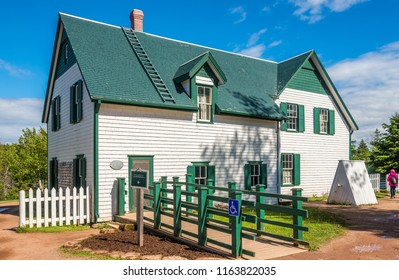 CAVENDISH, CANADA - JUNE 19,2018 - The Green Gables farmhouse is located in Cavendish. There is a museum in the house