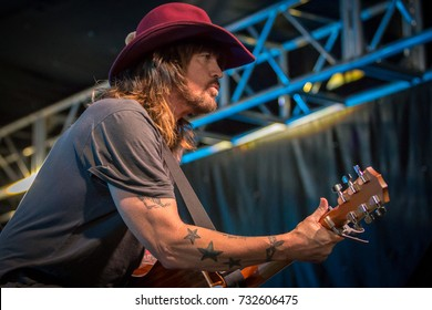 CAVENDISH PEI, CANADA -JULY 8, 2017: Singer Billy Ray Cyrus performs at the 2017 Cavendish Music Festival.
