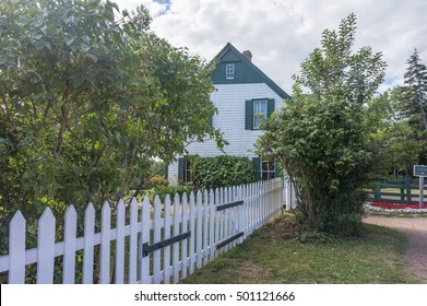 CAVENDISH, PEI/CANADA - AUG 7, 2016: The farmhouse of Green Gables, a 19th-century farm and one of the most notable literary landmarks (Anne of Green Gables novels by Lucy Maud Montgomery) in Canada.