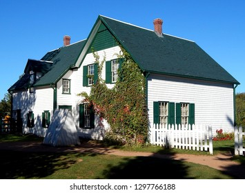 Cavendish, Prince Edward Island, Canada - September 22, 2017: Exterior facade of Green Gables Heritage Place where the Anne of Green Gables novels by Lucy Maud Montgomery took place.