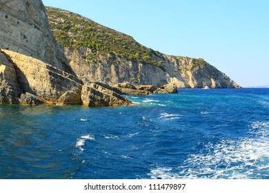Cavernous Rock and Sea
