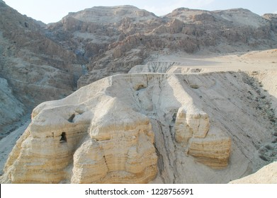 The caves at Qumran where the dead sea scrolls are found