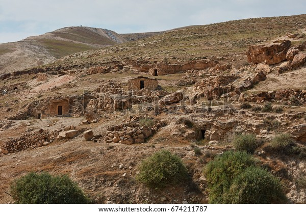 Caves in which christian sages where living in the past, Israel