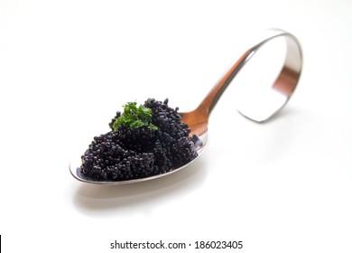 Caviar on a spoon