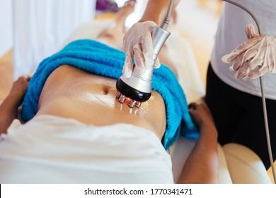 Cavitation RF body treatment and contemporary medicine for health beauty improvement and fat and cellulite removal