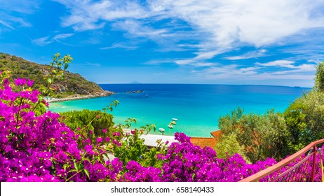 Cavoli beach and coast, Elba island, Tuscany, Italy.