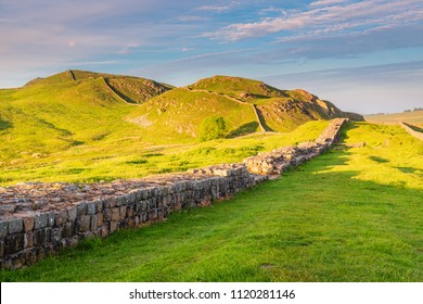 Caw Gap on Hadrian's Wall, a World Heritage Site in the beautiful Northumberland National Park. Popular with walkers along the Hadrian's Wall Path and Pennine Way