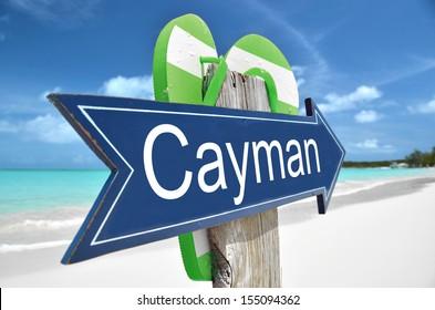 Cayman arrow on the beach