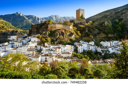 Cazorla castle view with Sierra of Cazorla,Andalusia,Spain