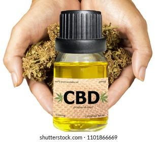 CBD cannabis oil vial