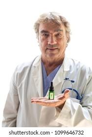 CBD oil in Doctors hand