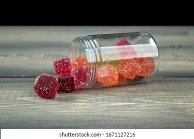 CBD Squares in a Clear Jar