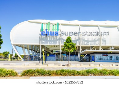 CBus Super Stadium the Gold Coast Titans' a Rugby League team's home stadium - Gold Coast, Queensland, Australia - 11 February 2018