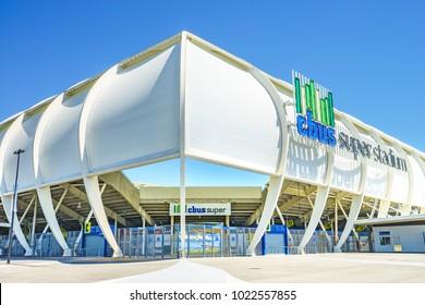 CBus Super Stadium the Gold Coast Titans' a Rugby League team's home stadium - Gold Coast, Queensland, Australia - 11 February 2018