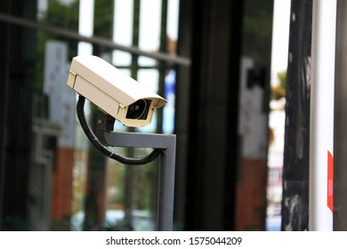 cctv camera with blur background