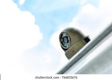 CCTV camera for car exterior