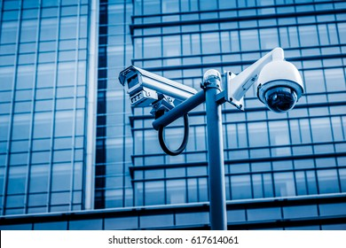CCTV camera front of office building