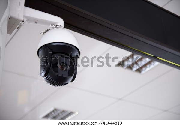 CCTV Camera hanging on the roof