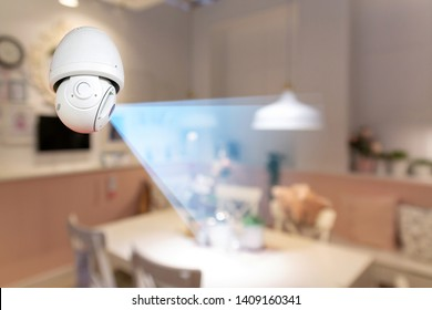CCTV camera with infrared light, motion detection.