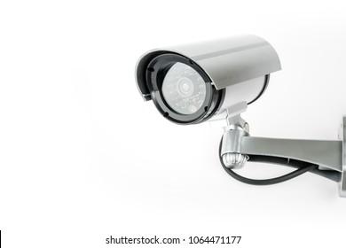 CCTV camera isolated on white background.