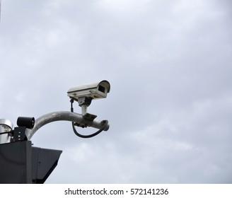 CCTV Camera on Traffic Intersection