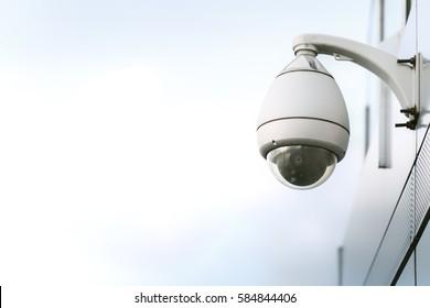 CCTV Camera on the wall