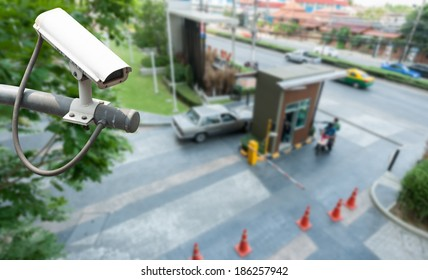 CCTV Camera Operating at gate