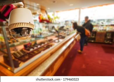 CCTV Camera Operating inside a shop