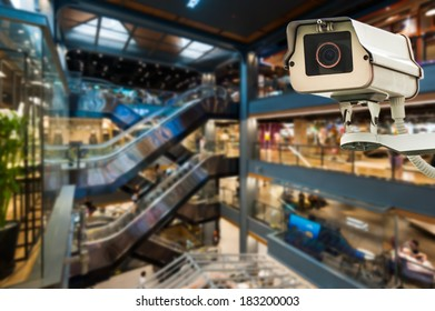 CCTV Camera Operating inside a station or department store