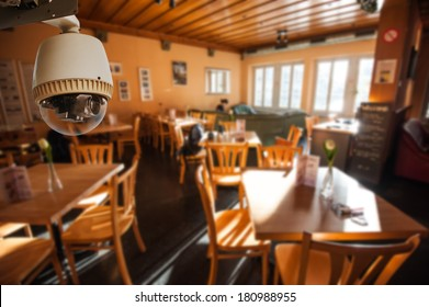 CCTV Camera Operating in Living room or restaurant