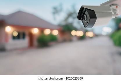 CCTV camera security in Blur village Background