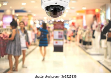 CCTV camera spy on the shopping mall.