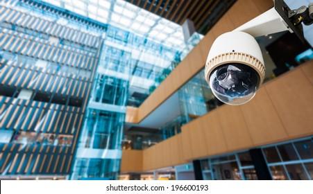 CCTV Camera or surveillance operating on window building