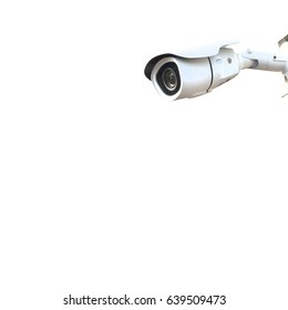 CCTV cameras on isolate background.
