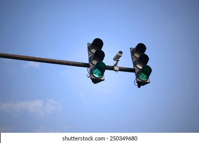 CCTV cameras on the red light