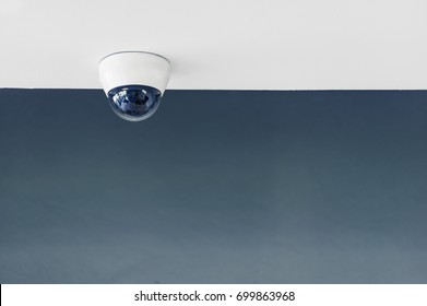 CCTV cameras recorded a white movement. Mounted on the wall above the walkway.