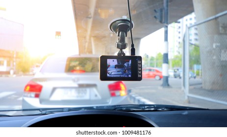 CCTV car camera for safety on the road accident