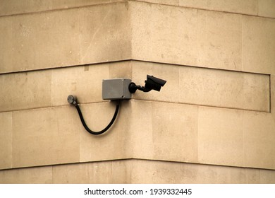 CCTV in the corner of a street