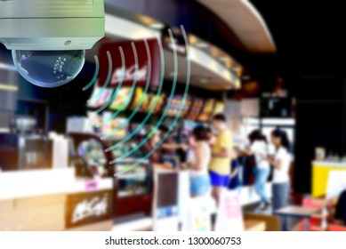 CCTV Dome infrared camera new technology 4.0 signal for look around security area ,recording and monitoring an event for save .CCTV camera is technology home security system.