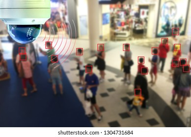 CCTV Dome infrared camera new technology 4.0 signal for Counting number of people in area or counting customer in shop simple as in red line are signal of counting by CCTV system.