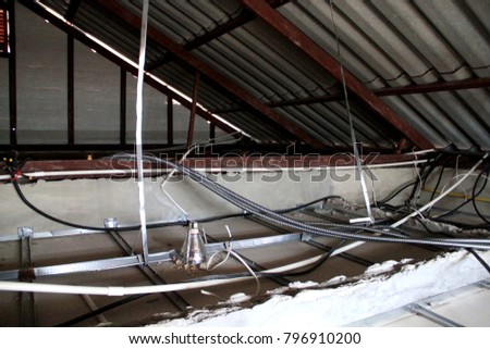 cctv installation and power cable installation under the roof