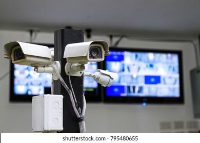 CCTV monitoring, security cameras.