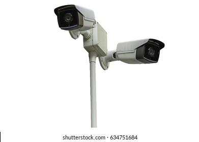 CCTV On wihite background,clipping path