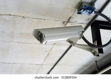 CCTV operating in building, car park,  Parking.