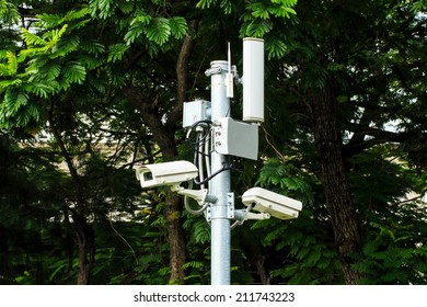 CCTV in the Public Park.