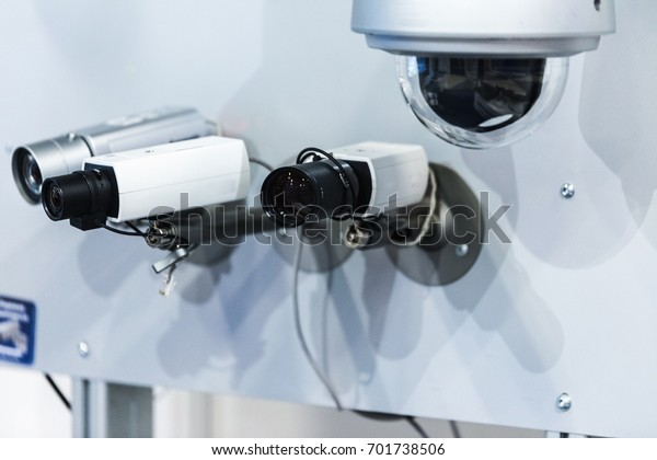 Cctv Security Camera On Demo Stand Stock Photo (Edit Now) 701738506