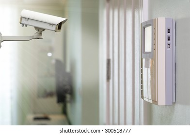 CCTV security camera on the video intercom equipment